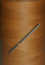 RITZA TIGRE WAXED HAND SEWING THREAD FOR LEATHER/CANVAS  & 2 NEEDLES - TAN