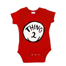 Thing 2,  Baby Onesie,  Red Funny Saying Bodysuit