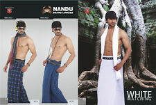 NANDU BRAND LUNGI 100% COTTON LUNGIES MEN'S WEAR GENUINE NANDU XXX BRANDED KAILI