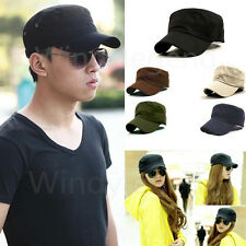 Men Women Classic Adjustable Army Plain Hat Cadet Military Baseball Sport Cap