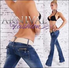 NEW BELT + WOMENS JEANS XS S M L XL shop online BOOTCUT DENIM PANTS for LADIES