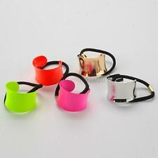 Trendy New Alloy Hemicycle Ring Hair Cuff Wrap Womens Ponytail Holder Band B10