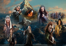 The Hobbit Group Poster A1 A2 A3 A4 All Sizes Desolation Of Smaug Lord Of The
