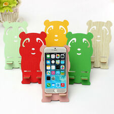 Universal Cell Phone Wood Panda Desk Stand Holder For Mobile Phone Cute Colorful