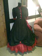 VICTORIAN/CIVIL WAR WALKING OUT DRESS & PETTI CUSTOM MADE IN ANY SIZE & COLOUR