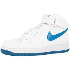 NIKE AIR FORCE 1 MID GLOW GS SHOES / HIGH TOP TRAINERS SNEAKERS WHITE BLUE