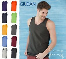 Gildan Mens Workout Sleeveless Ultra Cotton Tank Top 2200 S-3XL