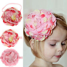 Baby Girls Elastic Flower Hairband Photography Prop Band Headbands Hottest