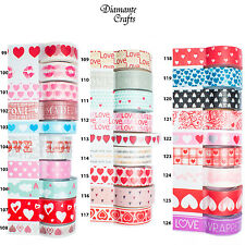 Washi Tape Decorative Masking Adhesive Paper Craft Trim - Love & Hearts