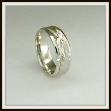 18 KT SOLID WHITE GOLD CUSTOM MADE WEDDING BAND FOR MEN AND LADIES DE 0026