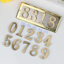HOUSE NUMBER ADDRESS SIGN BRASS PLAQUE CUSTOM PERSONALIZED