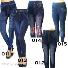 New Women Jeans Denim  Look Sexy Skinny Leggings Jeggings Stretch Pants Blue
