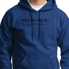 DRUM-MER...Definition of Funny Band T-shirt Rock Music Hoodie Sweatshirt
