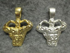"""Body Builder Adonis Muscle Man Gold / Silver Plated Pendant 2"""" Tall w/Fixed Loop"""