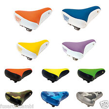 SELLA TRENDY BRN FIXED CITY BIKE BICI BICICLETTA SADDLE COLORATA