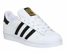 Adidas Superstar GS WHITE BLACK FOUNDATION Trainers Shoes