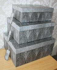 Silver/Charcoal Storage / Gift Box,strong and sturdy,choice of 3 sizes, with tag