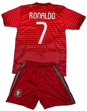 Portugal #7 RONALDO Kids Soccer Jersey & Shorts Youth Sizes
