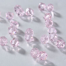 New Fashion DIY jewelry 3/4mm100/1000pcs Glass Crystal #5301 Bicone Beads Pink