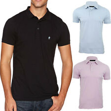French Connection FCUK Polo T-Shirt *RRP £30* 56LZN Sneezy S-XL  Black Blue Pink