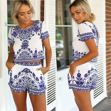 New Women Ladies Clubwear Flora Playsuit Bodycon Party Jumpsuit&Romper Trousers