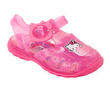 GIRLS HELLO KITTY PINK SUMMER BEACH WATER JELLY SANDALS SHOES INFANTS UK 3-9