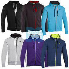 2014 UNDER ARMOUR MENS CHARGED COTTON STORM TRANSIT FULL ZIP HOODY - NEW TOP