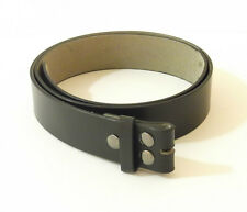 BLACK IMITATION LEATHER BELT WITH SNAP CLOSURE 323-001 pick your size