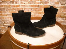 Sole Society Natasha Black Suede Pull On Ankle Boot NEW