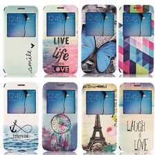 Fashion Designs View Window Flip Cover Leather Stand Case for Samsung Galaxy S6