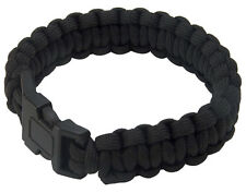 Adjustable Paracord Survival Bracelet Camping Wristband With Plastic Buckle New