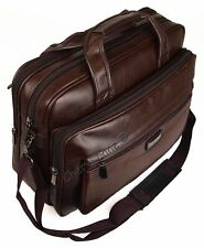 "High Quality Mens Faux Leather 15"" 17"" Laptop Business Work Briefcase Office Bag"