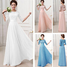 Fashion Women Bridesmaid Ball Prom Gown Formal Evening Party Cocktail Long Dress