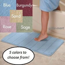 1 Cushioned microfiber memory foam fast drying bathroom rug mat pad 5 diff color