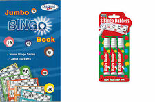 Tallon Games Bingo Book & Dabber/Flyers Pk of 3 dabbers , Non-Drip Ink