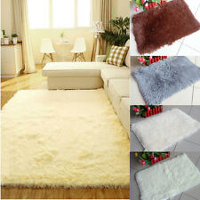 Soft Anti-skid Carpet Living Dining Bedroom Flokati Shaggy Wool Rug Mat Cover