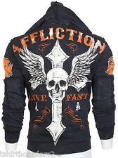 AFFLICTION Men Hoodie Sweat Shirt Jacket LIVE FAST Fight Biker MMA UFC S-3XL $88