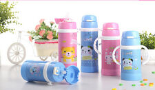 Children Baby Kids Water Drinking Straw Bottle Vacuum Cup Thermos Insulated Mug
