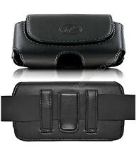 Leather Sideways Belt Clip Case Pouch Cover Magnetic Closure for CAT Cell Phones
