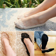Women Chic Sexy Lace Antiskid Invisible Liner No Show Slippers Peds Low Cut Sock