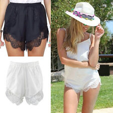 Fashion Women Girl Elastic Casual Shorts High Waist Lace Short Pants