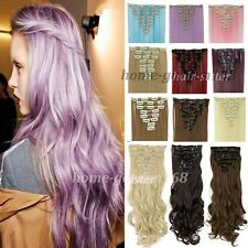 100% Real Soft Hair Full head Clip in hair Extension 8PCS human made hair g001