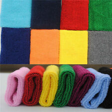 Hot  Lady Sweatband Sweat Band Sports Yoga Cotton Gym Hand band Wristband