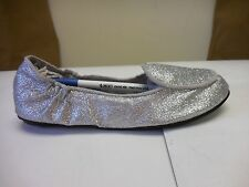 Footzyrolls Footzyfolds Girl Toddlers Silver Sparkles Ballet Slippers 887278T