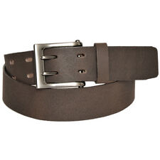 """Mens Brown Leather 1.5"""" Double Prong Buckle Casual Belt Gary Majdell Sport"""