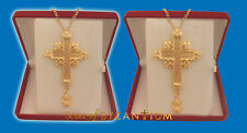 Orthodox Pectoral Cross Engraved Crussifixion in the Front offered in 2 Sizes