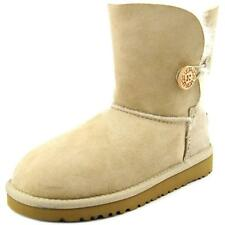 Ugg Australia Bailey Button Youth  Round Toe Suede Nude Winter Boot