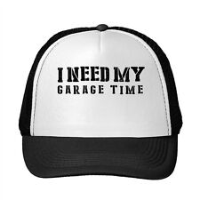 I Need My Garage Time Funny Adjustable Trucker Hat Cap