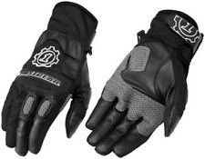 Firstgear Sedona Black Vented Leather Textile Street Motorcycle Riding Glove