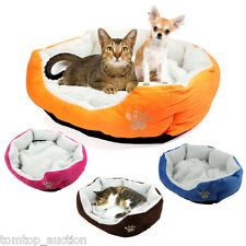 Puppy Pet Dog Cat Soft Fleece Warm Bed House Plush Cozy Nest Mat Pad Cushion